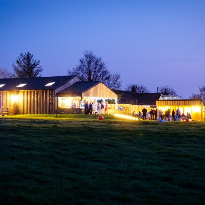 Milton Barn at Night : Wedding Venue Bude Cornwall